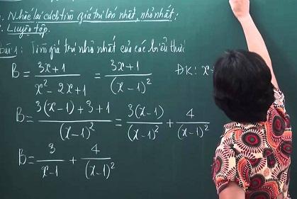 Gia sư lớp 8 dạy toán